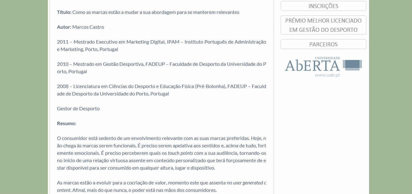 Print MBA Universidade Congresso COP