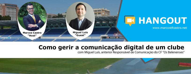 Facebook - Miguel Luís - Belenenses - nodata