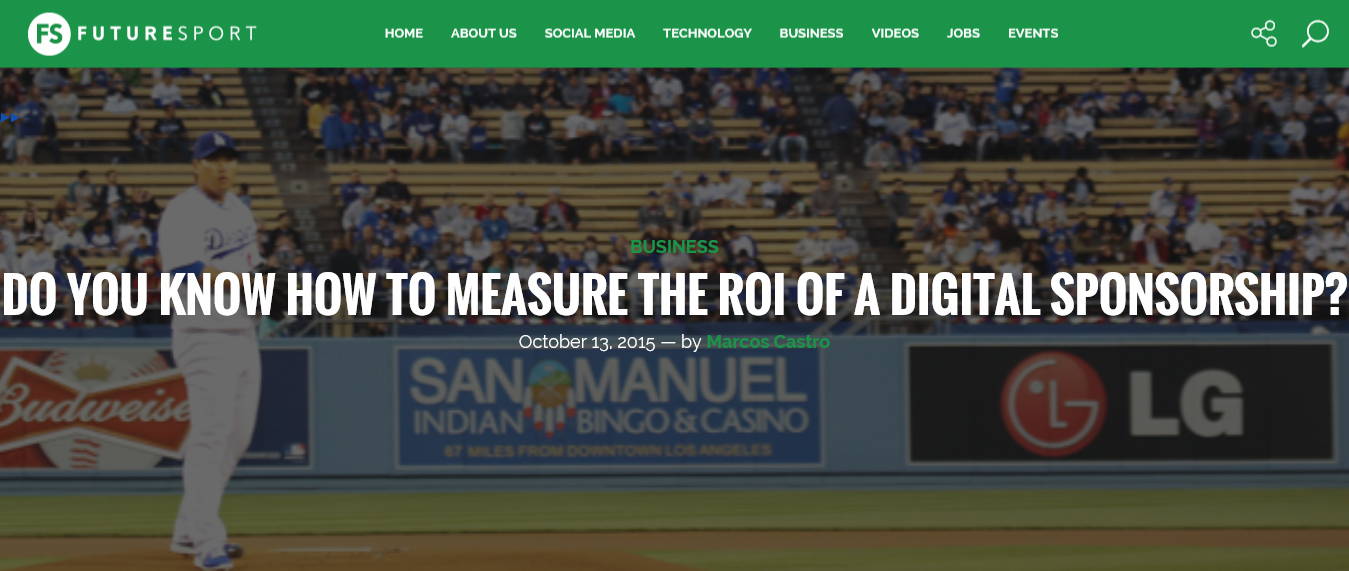 Do you know how to measure the ROI of a digital sponsorship