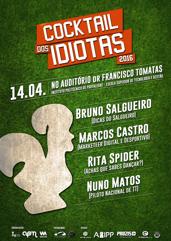 cartaz Cocktail dos Idiotas