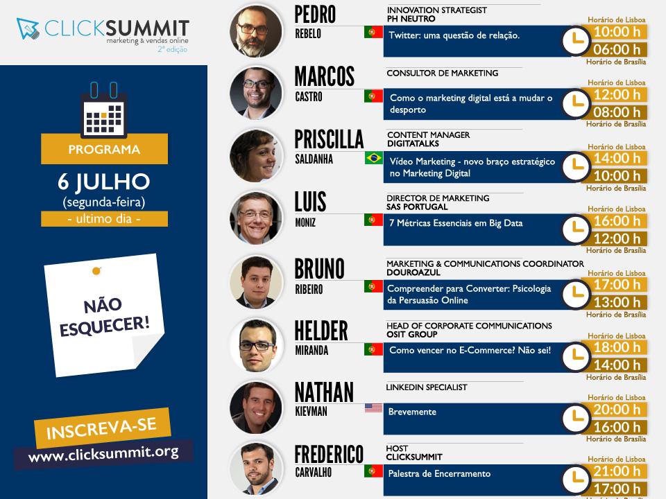 Click Summit Programa 6 de Julho